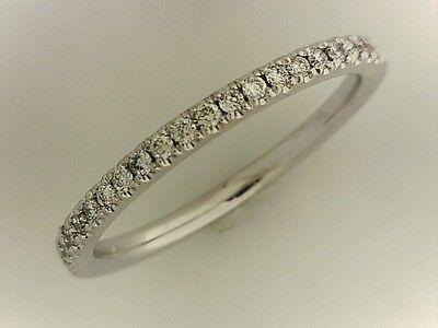 14k White Gold 1/6ct TDW Round-cut Diamond Band Ring Size 7