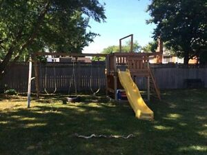 NEW PRICE! - Detailed Play System Playground with swingset