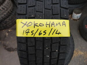 4 WINTER TIRE 175/65/R14 90% TREAD 2 FIRESTONE AND 2 YOKOHAMA