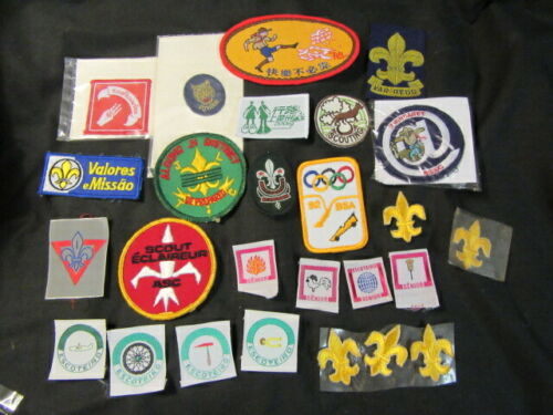 International Scouting Patch Lot of 21 Patches & FDL Embroidered Stickers  eb07