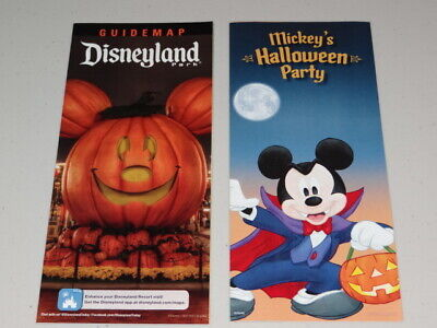 2018 Disney Disneyland Guide Map, Mickey's Halloween Party Trick-or-Treat Map