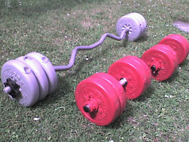 71 lb 32 kg Grey Dumbbell & Barbell Weights