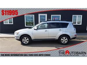 2010 MITSUBISHI OUTLANDER LS - 6CYL AUTO - BLUETOOTH, MOONROOF