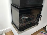 Log Burner contemporary Corner unit