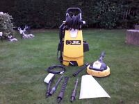 Pressure washer with all attachments 160 BAR by Wolf King Blaster