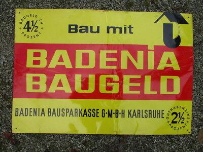 BADENIA BAUGELD  BAUSPARKASSE BLECHSCHILD