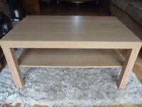 Ikea Oak Coffee Table AS NEW