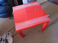 IKEA LACK TABLES X 2 IN RED