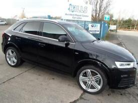 2015 Audi Q3 2.0 TDI 150ps Tronic Quattro S Line Plus Automatic Black