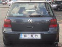Genuine 1999-2005 volkswagen golf GT TDI rear tailgate + rear bumper LC7V rear tailgate lock + glass