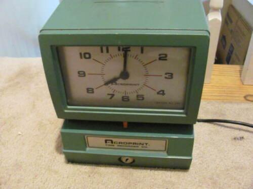 CROPRINT 150AR3 HEAVY DUTY TIME RECORDER MACHINE / NO KEY--NOT WORKING PARTS