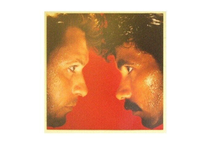 Hall And Oates Poster & Daryl John Red Background Flat