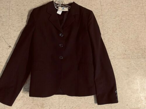 Comfort Riders MIDNIGHT Blue Pinstripe Youth HUNT COAT Size 14/16 *VGC*