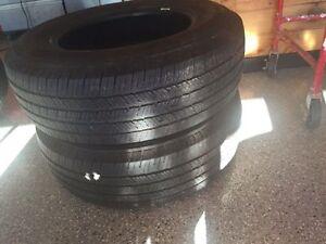 2 Michelin P255/70R18 tires $60