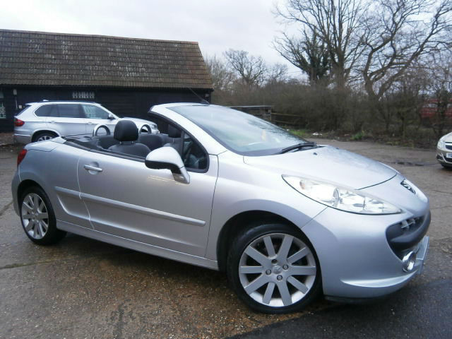 08 peugeot 207 cc 1.6 16v automatic convertable power roof, silver