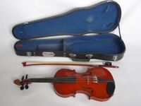 1/8th size Stentor violin and case
