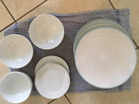 Plates and bowls set - moving overseas