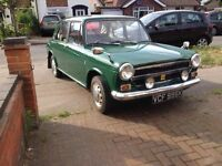 1971 AUSTIN 1100 MKIII. MOT JANUARY 26TH 2018, TAX EXEMPT, CLEAN AND TIDY PRACTICAL CLASSIC KERMIT!
