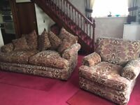 Parker Knoll Large Two-Seater Sofa & Chairs