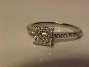 #1211-14K W/Gold ENGAGEMENT RING-Size 5-APPRAISED $2,250.00 SELL $550.00-GREAT VALUE-SHIP IN CANADA ACCEPT INTERAC