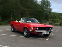 Classic Wedding Car Hire/ Private Car Hire/ Convirtable Mustang 1969