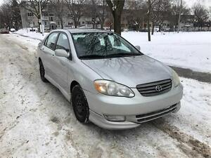 2003 TOYOTA COROLLA S, MANUEL, AIR CLIMATISE,1.8 , PNEUS HIVER