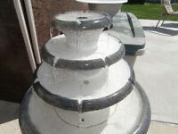 in door or out door water fountain 34 inch high3 leval water dro