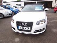 AUDI - A3 SPORT 2012 (12) MANUAL 1.6 DIESEL 2 DOOR.............................£12,995.00