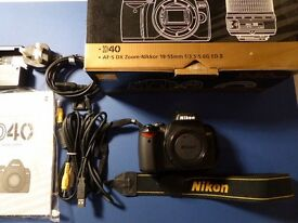 Nikon D40 Digital SLR Camera Body ( no lens)