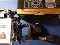 Nikon D40 Digital SLR Camera Body ( no lens)