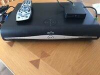 Sky Plus HD Box with Remote and Sky Hub