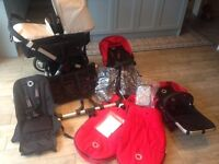 Bugaboo Donkey Duo with lots of extra's, amazing condition
