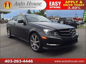2012 Mercedes C350 RWD RARE EDITION 1 NAVI, ROOF 90 DAY NO PYMT