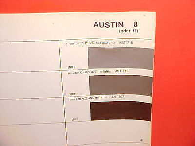1981 AUSTIN MARINA MAXI ALLEGRO BRITISH LEYLAND GLASURIT PAINT CHIPS