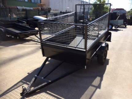 8X5 High Sides Cage Ramp Heavy Duty 1 Yr Rego On Site Ride On Mow