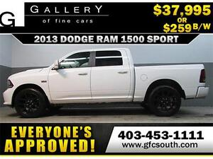 2013 DODGE RAM SPORT CREW *EVERYONE APPROVED* $0 DOWN $259/BW!
