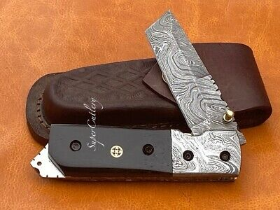 Handmade Buffalo Horn Damascus Steel 7