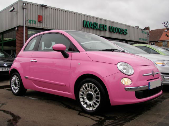 2010 fiat 500 puro 2 3 door panoramic roof 1 private lady owner pink girly car in leyton. Black Bedroom Furniture Sets. Home Design Ideas