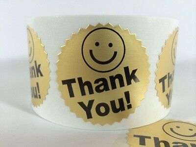 100 BIG THANK YOU LABEL SMILEY 2