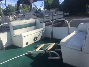 ***CHEAP CHEAP CHEAP*** 18' SUN PARTY PONTOON WITH 40HP MERC Peterborough Peterborough Area image 2