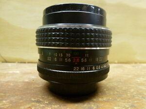 Opticam camera lens.  35mm-F2.8  Wide Angle.  Fits old Praktica