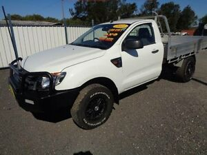 2013 Ford Ranger PX XL 2.2 (4x4) White 6 Speed Manual Cab Chassis Sandgate Newcastle Area Preview
