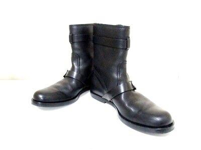 Auth GUCCI Black Leather Boots Men