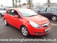 2008 (08 Reg) Vauxhall Corsa 1.2I 16V SXI 3DR Hatchback RED
