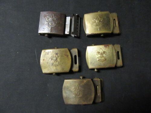 First Class Emblem Belt Buckles, Metal, Lot of 5, eb19