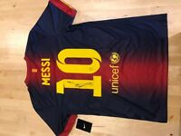Messi Shirt - Signed - Barcelona 2013 Shirt - Authentic