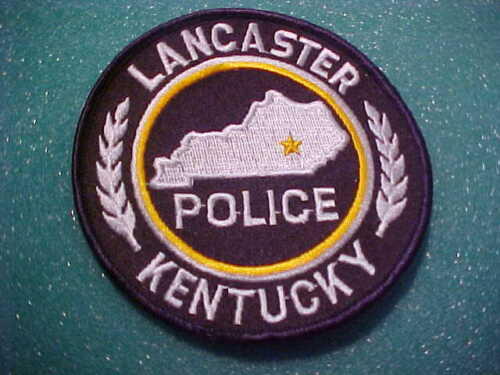 LANCASTER KENTUCKY POLICE PATCH SHOULDER SIZE UNUSED 4 X 4