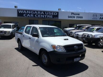 2005 Toyota Hilux KUN16R SR White 5 Speed Manual Dual Cab Pick-up Wangara Wanneroo Area Preview