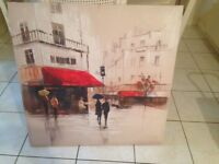 Canvas Picture of Street Cafe