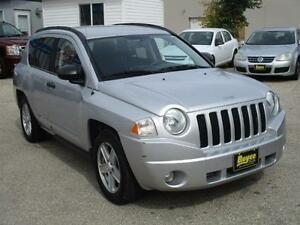 2008 JEEP COMPASS SPORT 4WD, SAFETY AND WARRANTY $6,450